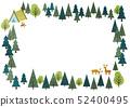숲의 프레임 사각형 가로 52400495