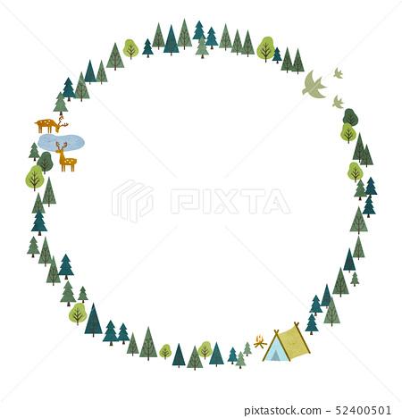 숲의 프레임 원형 52400501