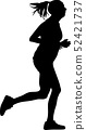 woman as a runner silhouette vector 52421737