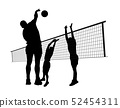 Men playing volleyball 52454311