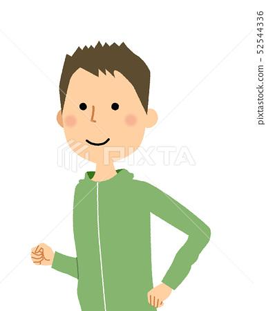 年輕男子慢跑 52544336