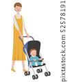 推著嬰兒車的媽媽 52578191