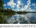 북유럽 스웨덴의 호수 - Aspen Lake in Gothenburg, Sweden 52672472