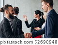 corporate culture business etiquette handshake 52690948