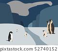Colorful cartoon penguins. Parent and child. 52740152