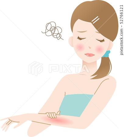 Arm rough skin woman beauty 52766121