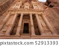 The Treasury at Petra Ruins in Jordan 52913393