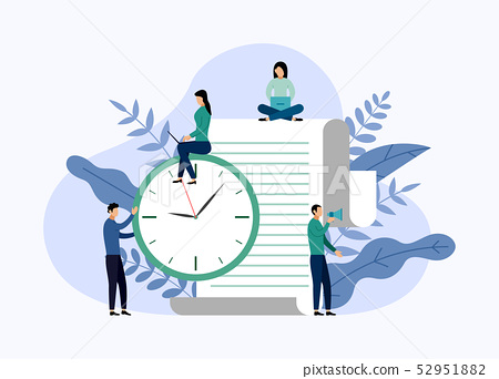 Time management, schedule concept or planner 52951882