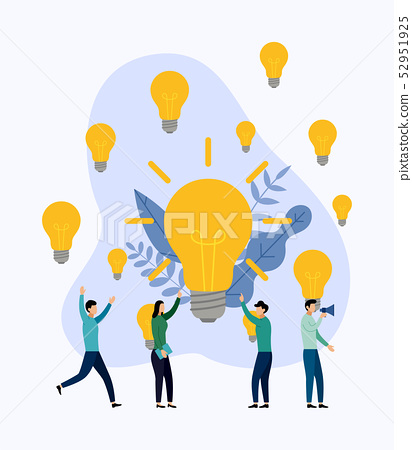 Search for new ideas, meeting and brainstorming 52951925
