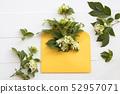 white flower jasmine in yellow envelope 52957071