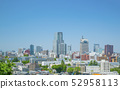 Hirose River Sendai city panoramic view fresh green 52958113