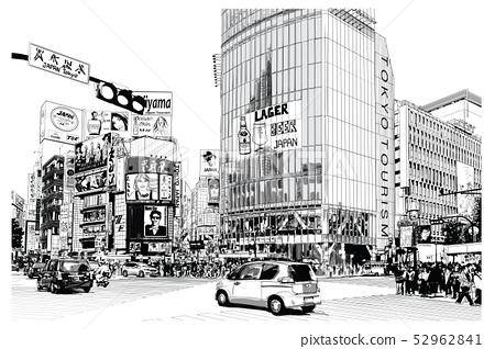 TOKYO, famous Shibuya crossroad 52962841