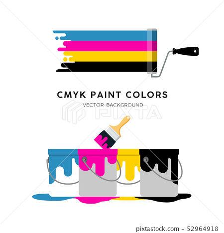 Vector Paint Roller and Paint can colorful design  52964918