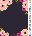 beautiful frame with flowers and leaves 52967083