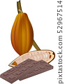 seed with cocoa berries and chocolate bar 52967514