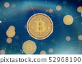 Bitcoin concept background. Symbolic image of virtual currency. 52968190