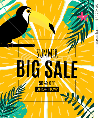 Abstract Summer Sale Background. Vector 52970403