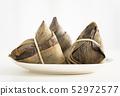 three traditional rice dumplings on table 52972577