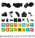 E-commerce and business black,flat icons in set collection for design. Buying and selling vector 52972870
