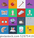 Human old age cartoon icons in set collection for design. Pensioner, period of life vector symbol 52975419