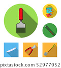 Vector illustration of tool and construction sign. Collection of tool and carpentry stock vector 52977052