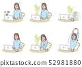 여성과 PC 여러가지 52981880