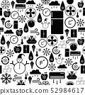 freezer seamless pattern background icon. 52984617