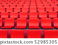 rows of red seat pattern in football or soccer 52985305