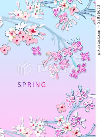 優雅的美麗的五顏六色的花卉插畫 52986653