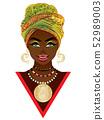 African woman in turban 52989003