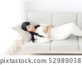 Young woman relax sleep 52989038