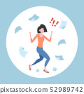 unsatisfied businesswoman throwing paper sheets angry emotional business woman conflict problem fail 52989742