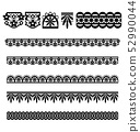 Lace Trim Vector Brush Set 52990044