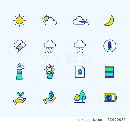 網絡或移動,天氣線圖標 52990085