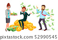 Happy Characters Man And Woman Millionaire Vector 52990545