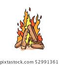 Fire camp vector illustration. illustration of bon 52991361