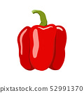 sweet bell pepper vector illustration. 52991370