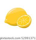 Lemon vector illustration. 52991371