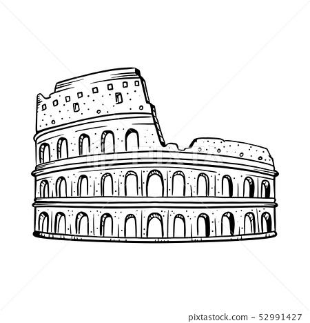 Colosseum vector illustration. 52991427