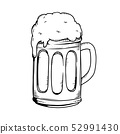 Beer illustration. Beer line drawing 52991430