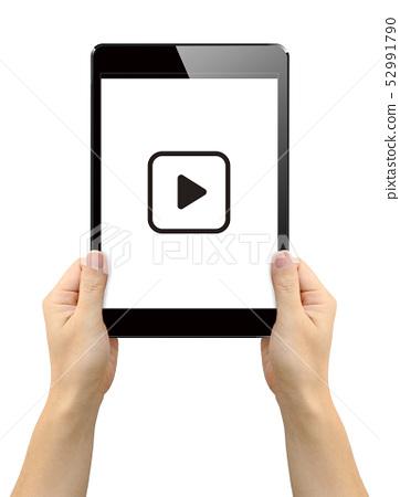 在平板電腦上播放視頻 52991790