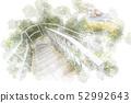 원숭이 섬의 계단 수채화 화풍 52992643