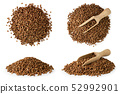 Set of pile buckwheat with wooden spoon and 52992901