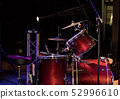drum set on stage in a concert hall 52996610