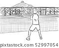 Tennis practice scene 52997054