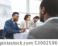 Business people sitting at table in seminar 53002596