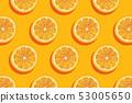 Slices of fresh orange summer background. 53005650