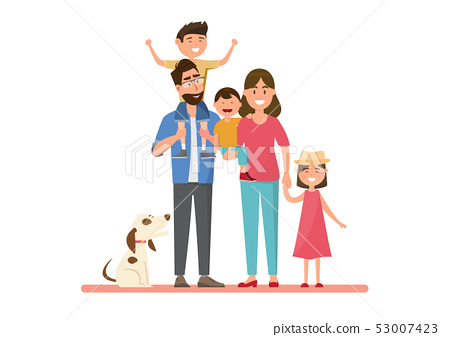 Happy family. Father, mother, baby, son and 53007423