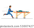ambulance emergency medical service. staff is 53007427