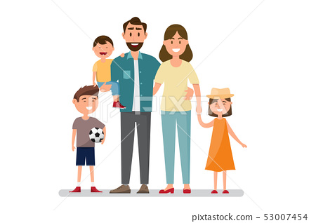 Happy family. Father, mother, baby, son and 53007454